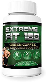 Extreme Fit 180- Green Coffee Metabolism Booster- Ultra Premium Weight Management Formula-Natural And Potent Weight Loss Pills For Men And Women - Burn Belly Fat - Powerful Antioxidant