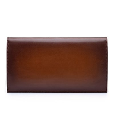 Italian Tobacco Long Leather Cash Men's Wallet Calfskin Holder Wallet Card Case With Phone TERSE Clutch Purse qOZa144wp