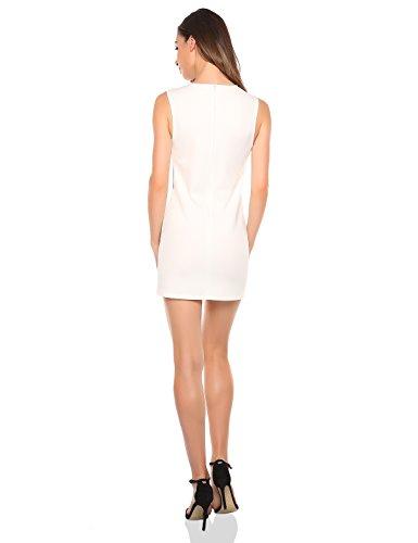 Match Women's Sleeveless Cocktail Dress (M, 127 White)