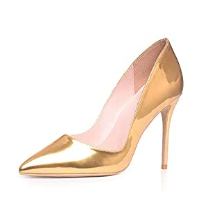 Elisabet Tang High Heels, Women Pumps Shoes 3.94 inch/10cm Pointed Toe Stiletto Sexy Prom Club Heels