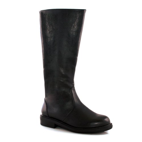 MENS SIZING 1 Inch Heel Mens Plain Knee High Boots Pirate Renaissance Warrior Size: Medium Colors: Black
