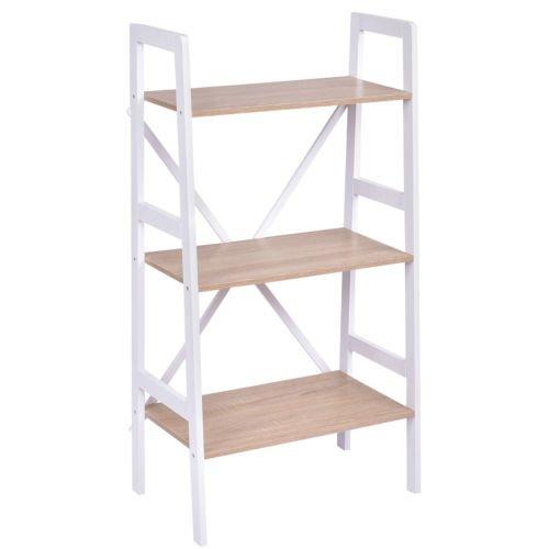 3-Tier 2PCS Corner Ladder Shelf Bookshelf Set Storage Rack Holder Organizer Rack by White Bear & Brown Rabbit