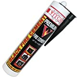 Black Fire Cement 1250 C - 300ml for Fireplace, Stove, Boilers etc by Vitcas