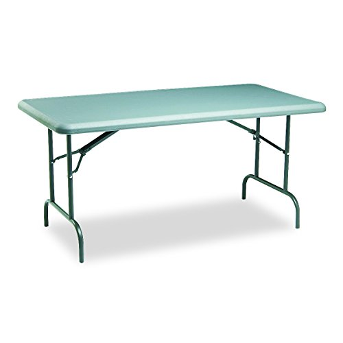 Iceberg ICE65217 IndestrucTable TOO 1200 Series Steel Legs Plastic Folding Table, 2000 lbs Capacity, 60