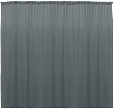 Ultimate Textile -10 Panels- Polyester Backdrop Drape 72 x 120-inch – for Pipe Drape, Wedding, Tradeshow, Decorating or Window Curtain use, Charcoal Grey