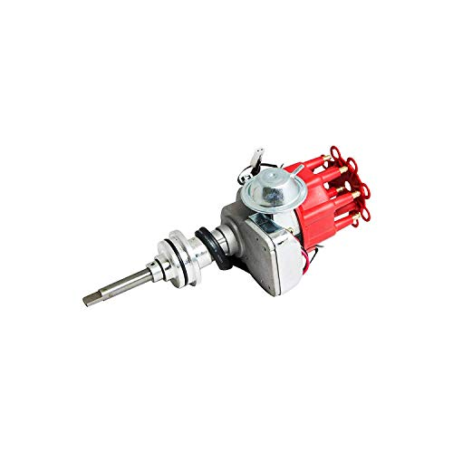 A-Team Performance Complete Ready to Run Distributor Compatible with Chrysler Dodge Mopar Big Block 413 426 440 R2R Two-Wire Installation Red Cap (Block 440 Small)