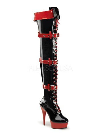 Sexy Medic Thigh Boot Black Heel High Stiletto nxTxOW