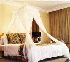 White Square Top Bed Canopy - Holiday Resort Style by DreamMa