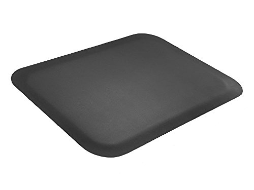 Elite Step 1/2'' Premium Faux-Leather Grained Anti-Fatigue Mat, 3' x 5', Solid Black by Portico Systems (Image #4)