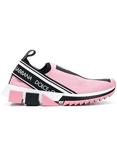 Dolce e Gabbana Women's Ck1595ah6778b405 Pink Polyester Sneakers