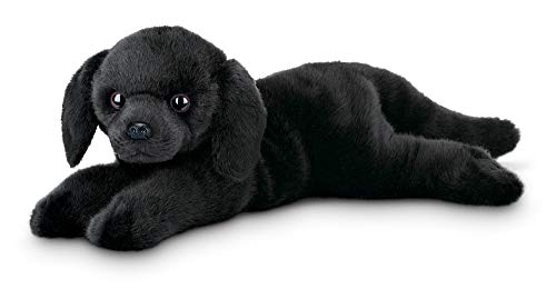 - Bearington Jet Black Labrador Retriever Plush Stuffed Animal Puppy Dog, 15 inches