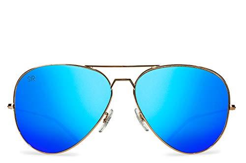 Shady Rays Aviator Elite Polarized Metal Sunglasses Sky ()