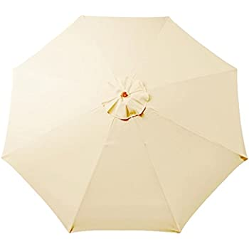 Tokept Replacement Umbrella Canopy for 9ft 8 Ribs Beige(Canopy Only)  sc 1 st  Amazon.com & Amazon.com : 9u0027 8 Ribs Umbrella Canopy Replacement Patio Top Cover ...