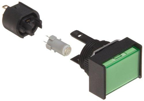Rectangular Indicator Light - Omron M165-JG-24D Cylindrical Indicator Display and Socket, Solder Terminal, IP65 Oil-Resistant, 16mm Diameter, LED Lighted, Rectangular, Green, 24 VDC Rated Voltage