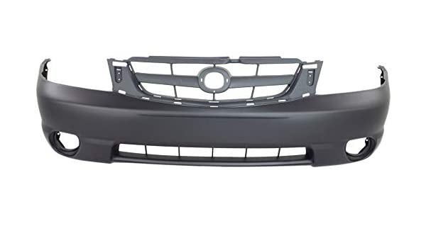 Front Bumper Cover Compatible with 2002-2003 Nissan Maxima Primed with Fog Light Holes