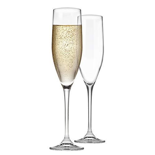 Godinger Champagne Flutes, Champagne Glasses, European Made – 8oz, Set of 2