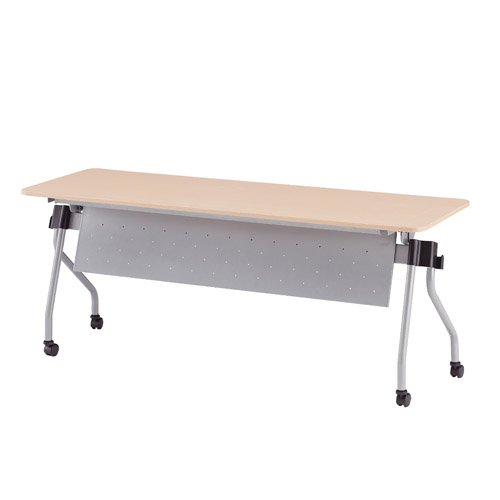 TOKIO NTA-Nホールディングテーブル パネル付 パネルカラー:シルバー W1800×D600×H720mm NTA-N1860PS ナチュラル B07651SVGG ナチュラル ナチュラル