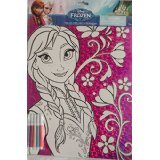 Disney Frozen Anna Foil Coloring Sheet with 5 Markers