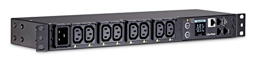 CyberPower PDU81005 Switched Metered-by-Outlet PDU, 20A, 100-240V, 8 Outlets (IEC-320 C13), 1U Rack-Mount