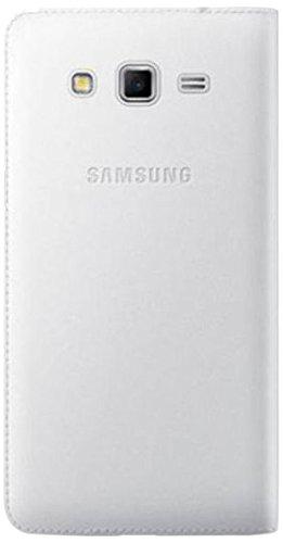 Samsung Flip Wallet - Funda para móvil Samsung Galaxy Grand 2 (Con compartimento para tarjetas), blanco- Versión Extranjera