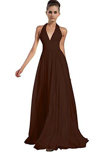 VaniaDress Women Halter Long Bridesmaid Dress Formal Evening Gowns V276LF Chocolate US18W from VaniaDress