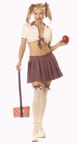 [Sexy Teacher's Pet School Girl Costume - LARGE] (Teachers Pet School Girl Costume)