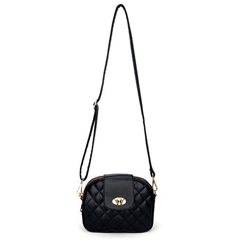 Quilted Small Handbag - Solarfun Quilted Purse Multi Zipper Crossbody Bag For Women Girls Small