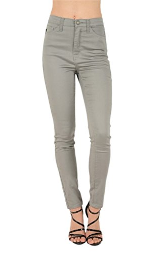 Kan Can Women's High Rise Skinny Jeans (5, Taupe)