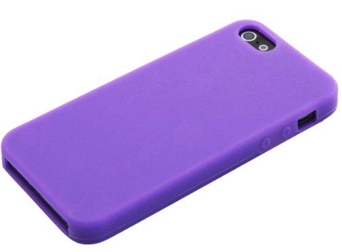 Coque en Silicone Cover Housse Euit pour Apple iPhone 5 / 5G - Violet