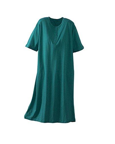 National Big Comfy Sleepshirts, Jade, One Size