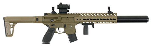 Sig Sauer Airgun MCX MRD Air Rifle Semi-Automatic .177 Pellet Blk/FDE ()