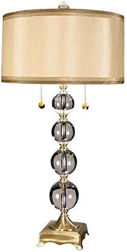 Dale Tiffany GT701217 Crystal Accents Two Light Solid Table Lamps Collection Finish, 16.00 inches, Antique Brass