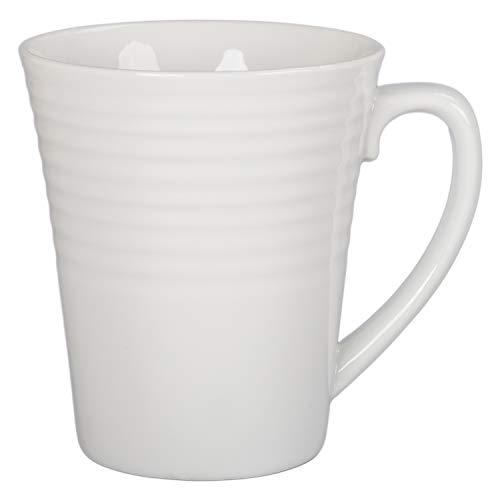 BIA Cordon Bleu 903108S4SIOC Porcelain Ribbed Coffee Mug One Size White