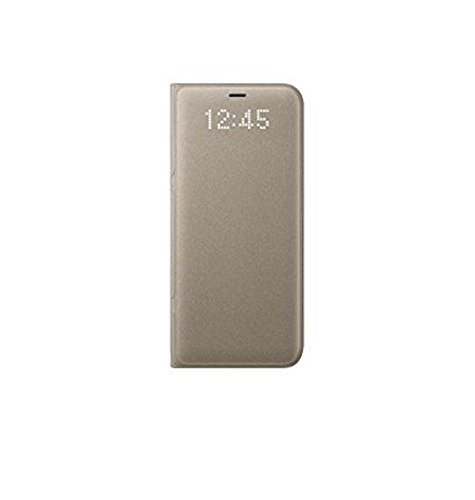 Genuine Samsung LED View Cover Flip Wallet Case for Samsung Galaxy S8+ / S8 Plus - Gold (EF-NG955PFEGWW)