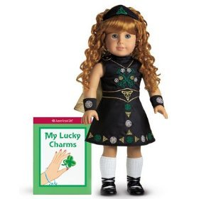 American Girl Irish Dance Costume Book, Wig, Shoes, Socks and Cloak