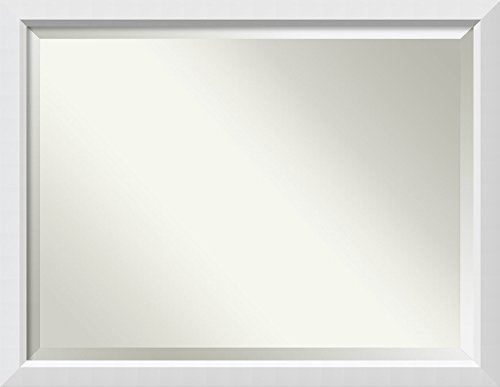 Amanti Art Framed Vanity Mirror | Bathroom Mirrors for Wall | Blanco -