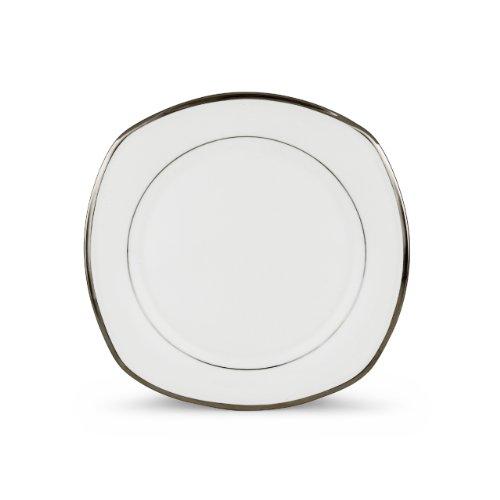 - Lenox Solitaire Square Accent Plate, White