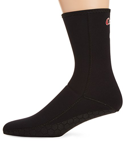 Cressi Erwachsene Fusslinge 2.5mm Socke Anti Rutsch, Schwarz, L, LX433003