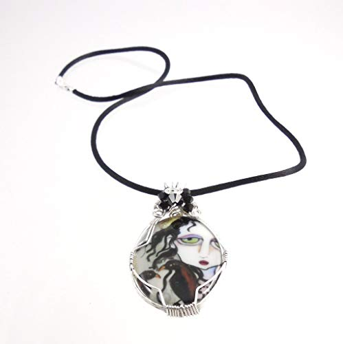Sterling Silver Wire Wrap Raven Pendant