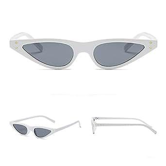 Gusspower Gafas De Sol Para Mujer Bisagras De Metal Pequeña Ojos De Gato Marco De Plástico Gafas de sol retro (A)