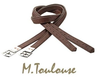 M. Toulouse Covered Stirrup Leathers- Chocolate- 54″