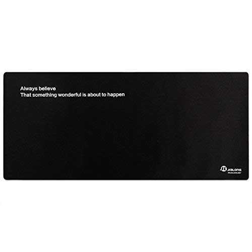 Eligoo Gaming Mouse Pad Extended XXL Large Customized Words Black Mouse Mat - 900x400mm Dimension