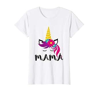 Amazon.com: Womens Camisa Unicornio para mama ropa de fiesta ...