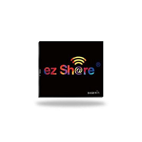 ez Share 32GB 64GB Wireless Wifi Compact Flash Class 10 CF Memory Card High Speed for Camera Canon Nikon Sony FU JIFILM series (64GB) (Wireless Cf Card)