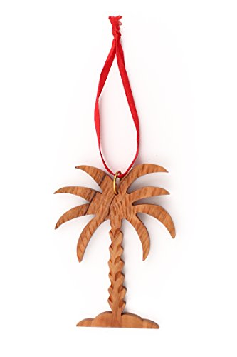 From The Earth - Olive Wood Palm Tree Christmas Ornament - Fair Trade & Handmade