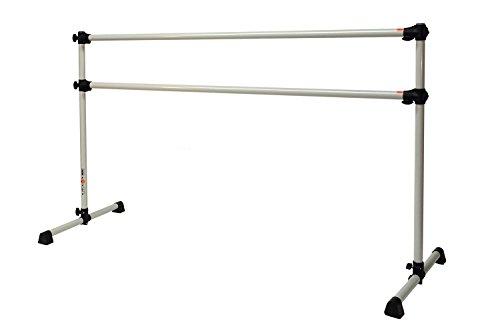 Vita Vibe Aspire Series 4 FT Double Aluminum Freestanding Ballet Barre Stretch/Dance Bar (DoveGray)