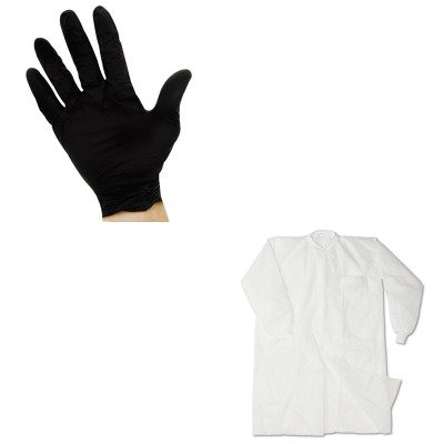KITIMP7385LIMP8642L - Value Kit - Impact Disposable Lab Coats (IMP7385L) and Impact ProGuard Disposable Nitrile Gloves (IMP8642L)