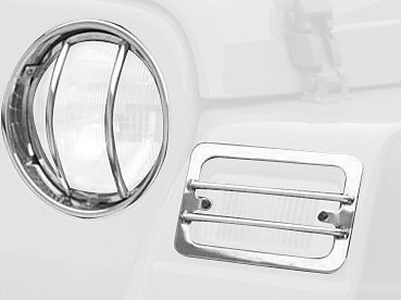 Rampage Euro Headlight - Rampage Jeep 5459 Euro Headlight Cover - 4 Piece
