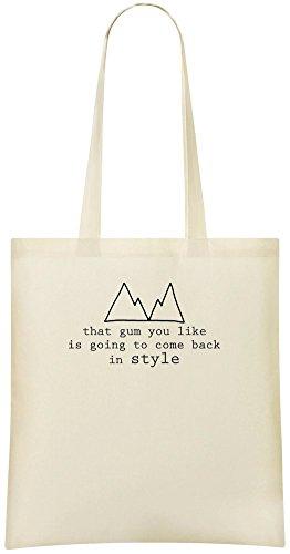 That gum you like Custom Printed Tote Bag - 100% Soft Cotton - Eco-Friendly & Stylish Handbag For Everyday Use - Custom Shoulder Bags