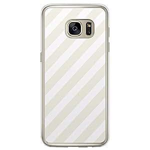 Loud Universe Samsung Galaxy S7 Edge Love Valentine Files Valentine 100 Transparent Edge Case - Beige/White